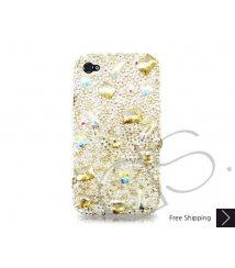 Diamond Scattered Bling Swarovski Crystal iPhone 8 and iPhone 8 Plus Case - Yellow