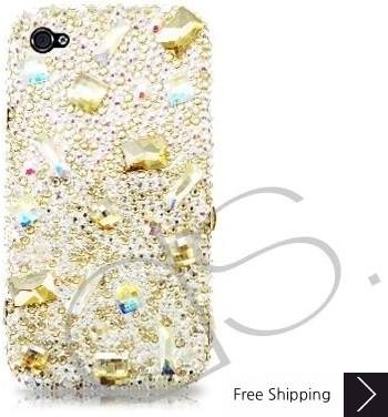 ダイヤモンド散乱ブリンブリンスワロフ スキー iPhone 8 iPhone 8 とケース - イエロー