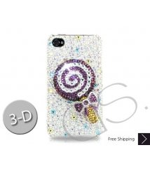 Lollipop Bling Swarovski Crystal Phone Cases - Purple