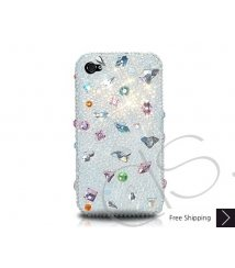 Disperse Bling Swarovski Crystal Phone Case - White