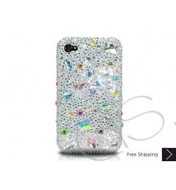 Disperse Bling Swarovski Crystal Phone Case - Gray