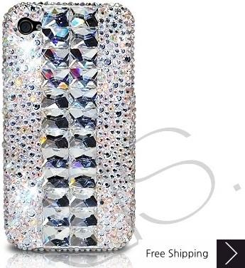Cubical Silver Bling Swarovski Crystal Phone Cases
