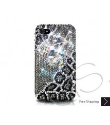 Emperor Bling Swarovski Crystal Phone Case - Black