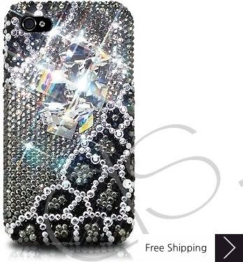Emperor Bling Swarovski Crystal Phone Case - Black