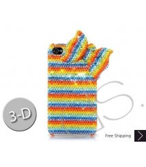 Ribbon Wave 3D Bling Swarovski Crystal iPhone 11 Pro and 11 Pro MAX iPhone 11 Case - Colourful