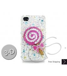 Lollipop Bling Swarovski Crystal iPhone XS and MAX iPhone XR Case - Pink