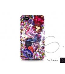 Colorato 3D Bling Swarovski Crystal iPhone XS and MAX iPhone XR Case - Blue
