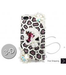 Skull Leopard Bling Swarovski Crystal iPhone 12 Case iPhone 12 Pro and iPhone 12 Pro MAX Case