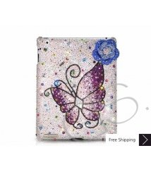 Butterfly Floral Swarovski Crystal iPad 2 New iPad Case