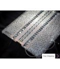 Parallel Swarovski Crystal iPad 2 New iPad Case - Silver