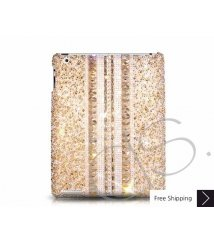 Parallel Swarovski Crystal iPad 2 New iPad Case - Gold