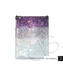 Gradation Swarovski Crystal iPad 2 New iPad Case - Purple