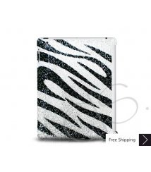 Zebra Crystal New iPad Case - Silver