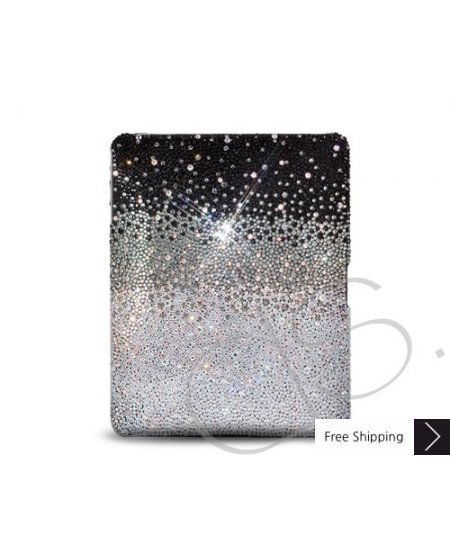 Gradation Swarovski Crystal iPad 2 New iPad Case - Black