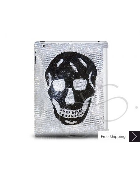 Smiling Skull Swarovski Crystal iPad 2 New iPad Case