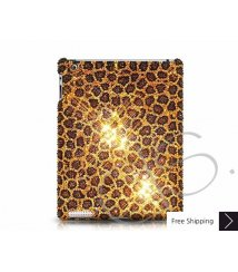 Leopard Swarovski Crystal iPad 2 New iPad Case - Gold