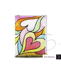 Color Hearts Crystal New iPad Case