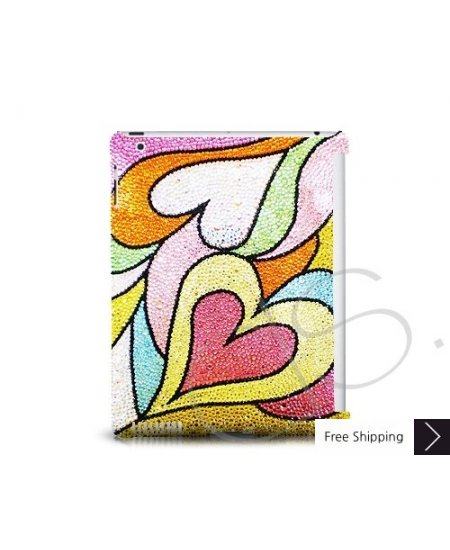 Color Hearts Swarovski Crystal iPad 2 New iPad Case