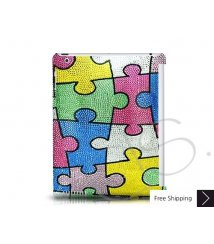 Puzzle Swarovski Crystal iPad 2 New iPad Case - Green