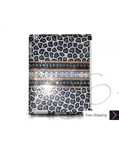 Stripe Print Swarovski Crystal iPad 2 New iPad Case