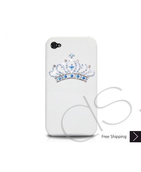PRINCESS CRYSTALLIZED SWAROVSKI IPHONE 4 CASE - WHITE