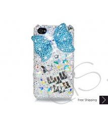 Cubical Ribbon Crystallized Swarovski iPhone 4 Case - Blue