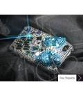 立方体のリボン結晶スワロフ スキー iPhone 4 ケース - ブルー