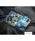 Cubical Ribbon Crystallized Swarovski iPhone 4 Case - Blue