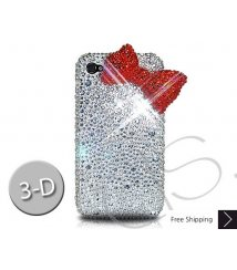 Red Ribbon Crystallized Swarovski iPhone 4 Case