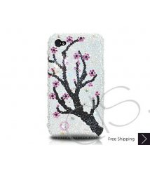 Plum Flower Crystallized Swarovski iPhone 4 Case
