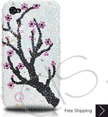 Plum Flower Crystallized Swarovski iPhone 4 Case