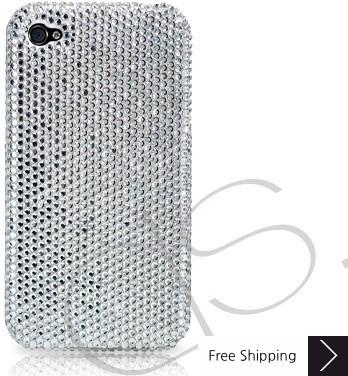 クラシック結晶スワロフ スキー iPhone 4 ケース - シルバー