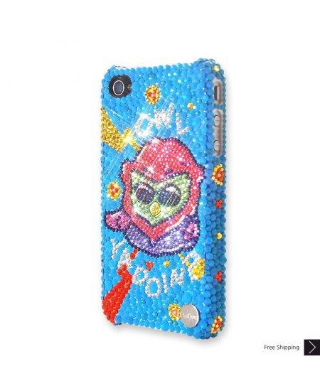 Pop Owl Crystal iPhone 4 and iPhone 4S Case