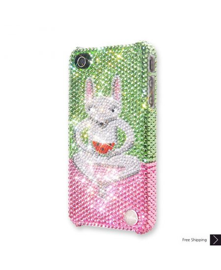 Watermelon Lemur Crystal iPhone 4 and iPhone 4S Case