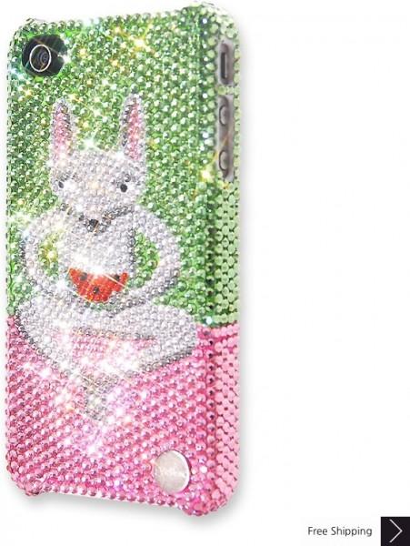 スイカ キツネザル クリスタル iPhone 4 と 4 s の iPhone ケース