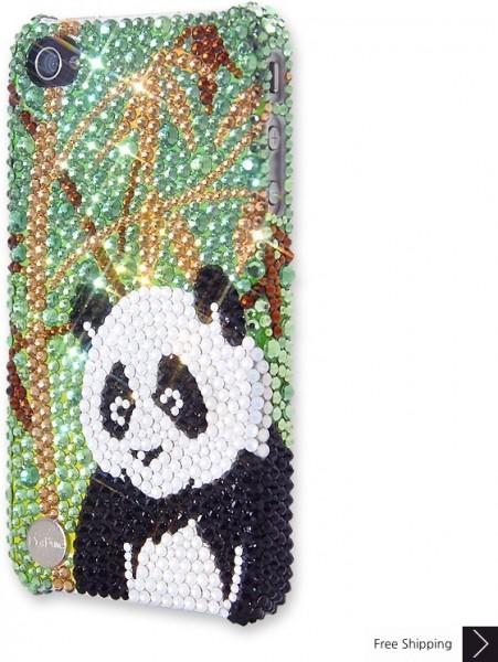 パンダ クリスタル iPhone 4 と 4 s の iPhone ケース