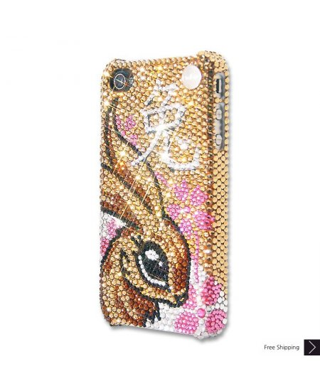 Chinese Zodiacs Rabbit Crystal iPhone 4 and iPhone 4S Case