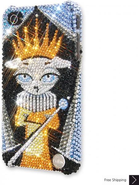 王クリスタル iPhone 4 と 4 s の iPhone ケース