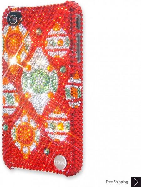 クリスマスのキラキラ クリスタル iPhone 4 と 4 s の iPhone ケース