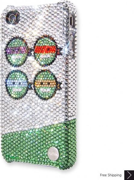 忍者エンドウ豆クリスタル iPhone 4 と 4 s の iPhone ケース