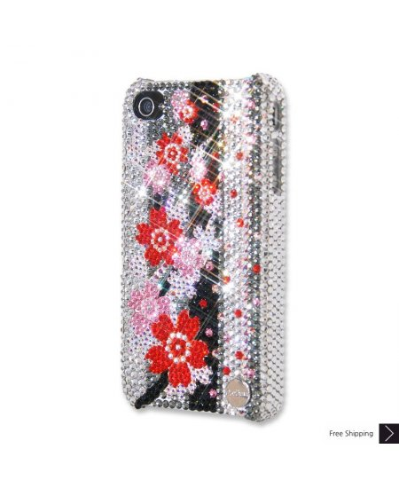 Love Blossom Crystal iPhone 4 and iPhone 4S Case
