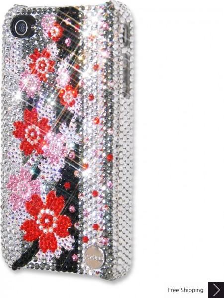 愛花クリスタル iPhone 4 と 4 s の iPhone ケース