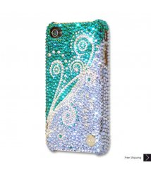 Dancing Green Bling Swarovski Crystal iPhone 6 and iPhone 6 Plus Case