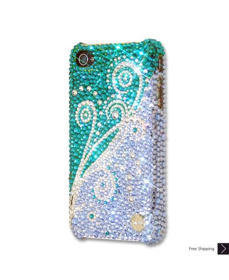 Dancing Green Crystal iPhone 4 and iPhone 4S Case