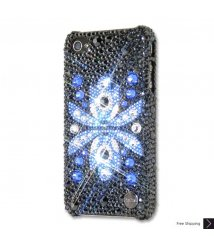 Flor Azul Crystal iPhone 4 and iPhone 4S Case