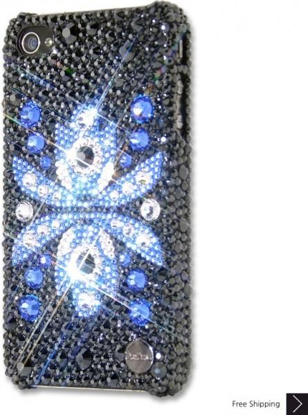 フロール Azul クリスタル iPhone 4 と 4 s の iPhone ケース