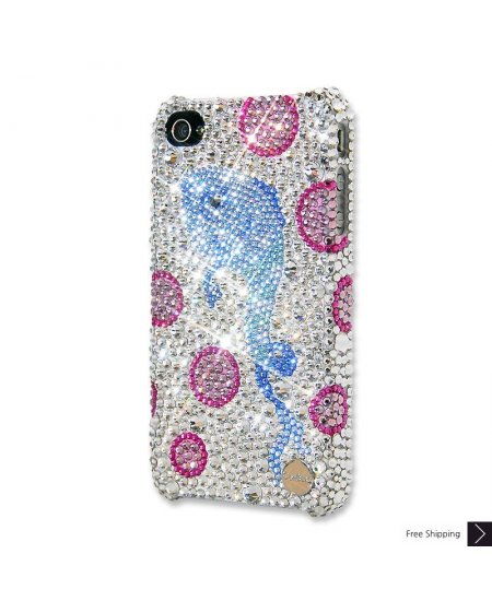 Fish and Bubbles Crystal iPhone 4 and iPhone 4S Case