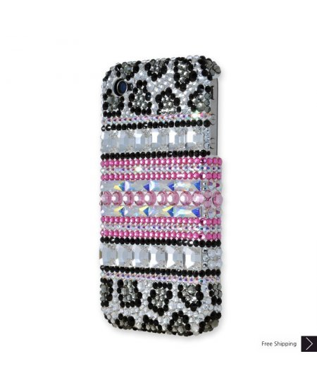 Leopard Stripe Crystal iPhone 4 and iPhone 4S Case