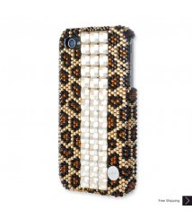 Leopard Cubic Crystal iPhone 4 and iPhone 4S Case