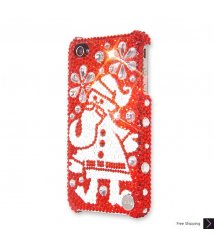 Snowflake Santa Crystal Phone Case